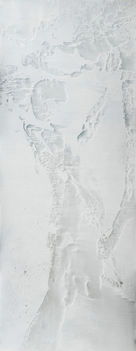0816-03, 2016, 70 x 180 cm, Oil on Aluminium